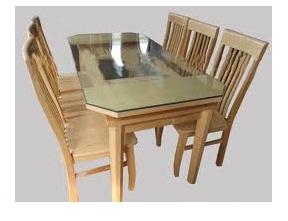 Bàn ghế phòng ăn gỗ Sồi Nga