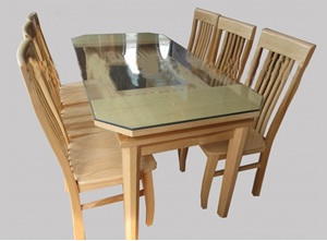 Bộ bàn ghế Gỗ Sồi Nga B001