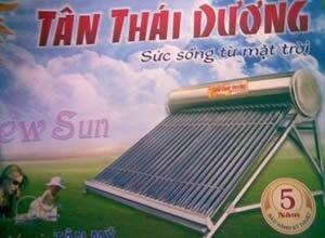 Giàn năng lượng mặt trời Tân mỹ 140L phi 58