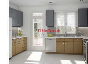 Tủ bếp laminate TBLF003