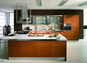 Tủ bếp laminate TBLF005